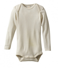 Baby body long-sleeved, wool/silk