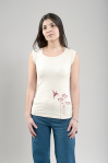 "Hemp Tee ""Colibri"" - natural"