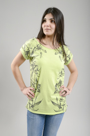 Laura Floral Tee - lime
