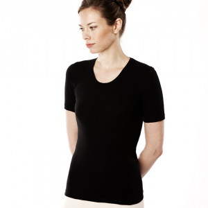 Women's short-sleeved Vest - black