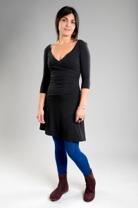 Party Dress Slim Fit - schwarz