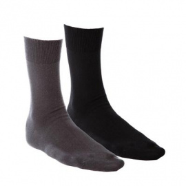 Business-Socken, 2er Pack - schwarz/anthrazit
