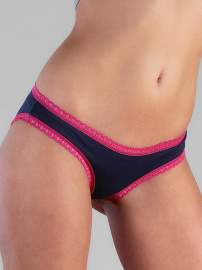 Ladies Panties with lace - dark blue/pink
