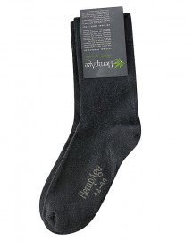 Light Cotton Hemp Socks - black