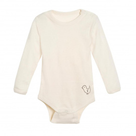 Baby body, wool/silk - natural