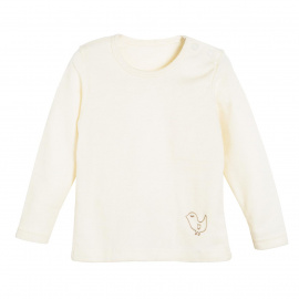 Longsleeve Shirt, wool/silk - natural