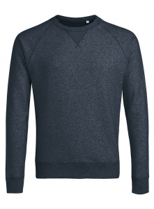"Sweatshirt ""Stanley Strolls"" - dark heather denim"