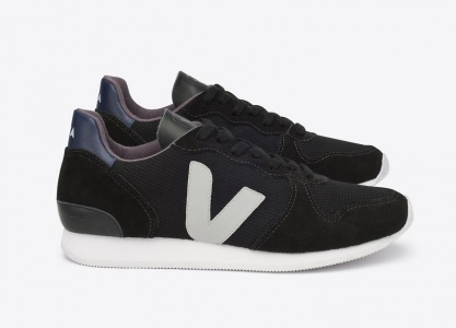 "Veja Schuh ""Holiday Low Top"" - black oxford grey"
