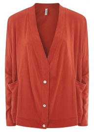 "Jersey-Cardigan ""Casey"" - rot"