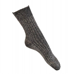 Hirsch Natur Longlife Socks (cotton/linen) - black melange