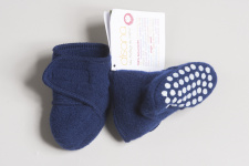 Disana shoes from boiled wool - navy
