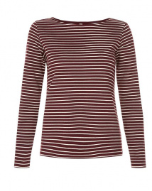 Nita Stripe Top - burgundy