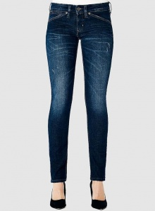 "Kuyichi Jeans ""Neneh Skinny"" - crincle blue"
