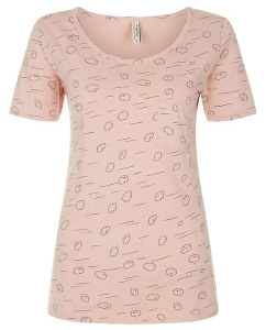 Cloud Pajama Short Sleeve Top - pale pink