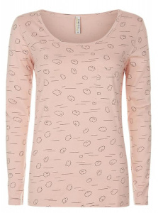 Cloud Pajama Long Sleeve Top - pale pink