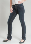 Frauen 5-Pocket Jeans - dark night