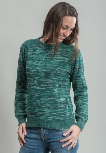 Space Dye Jumper - grün
