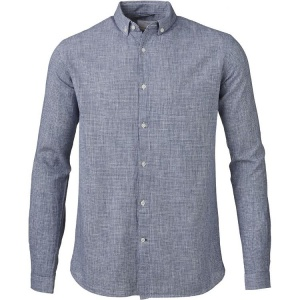 Dog Tooth Shirt - dark denim