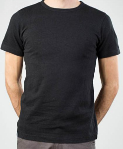 Boy Tee Blanco (Hanf) - black