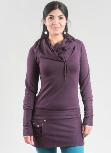 Ritual Tunic - rich purple/black