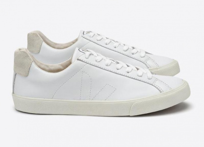 "Veja Schuh ""Esplar Low Leather"" - extra white"