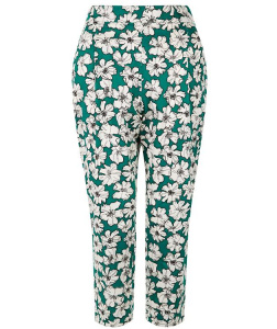 Frances Printed Trousers - green