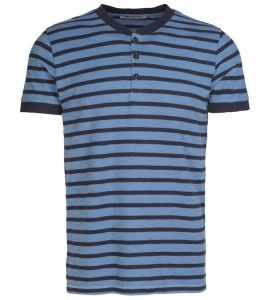 "T-Shirt ""Rio Stripes"" - taubenblau"