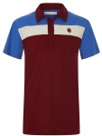 Tricolor Poloshirt - weinrot