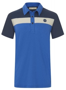 Tricoloure Dip Dyed Polo - blau