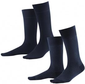 Men's Socks, 2pack - dark navy indigo melange