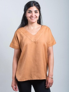 "Tencel-Top ""Arabie"" - ocker"