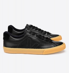 "Veja Schuh ""Esplar Leather LT"" - black natural"