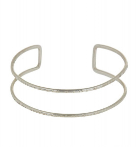 Double Bangle - silber