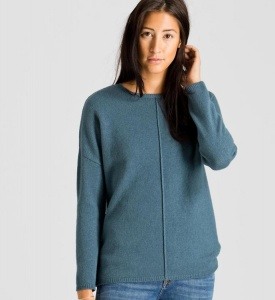 "Strick-Pullover ""Mila"" - blau (Wolle)"