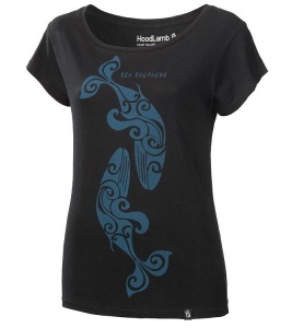 Damen Sea Shepherd T-Shirt - schwarz