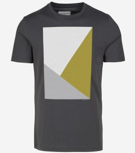 "T-Shirt ""James Triangle"" - grauschwarz"