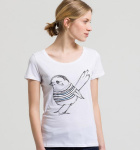 "Shirt ""Mari Bird"" - weiß"