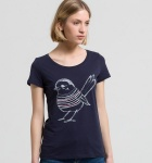 "Shirt ""Mari Bird"" - navy"