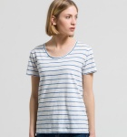 "Shirt ""Josi Stripes"" - weiß/blau"