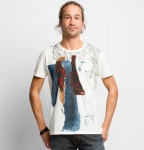 "Nudie T-Shirt ""Anders Tom Paper"" - white"
