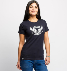"T-Shirt ""Lemur"" - navy"