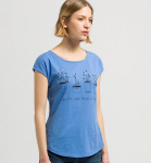 "Shirt ""Scarlett Enjoy"" - azurblau"