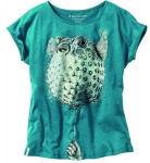 "Damen T-Shirt ""Blowfish"" - petrol"