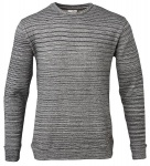 Double Layered Sweat Knitted - dunkelgrau
