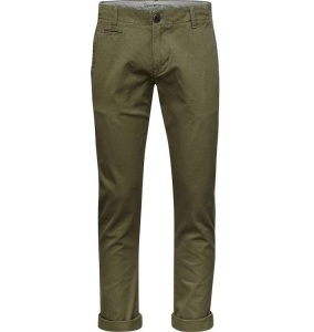 Twisted Twill Chinos - olivgrün