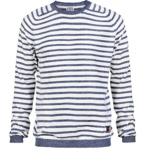 "Sweater ""Brian Saddle"" - grau gestreift"