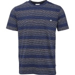 """Narrow Striped"" T-Shirt - blue"