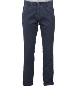 Chino Fit Pants (linen) - navy