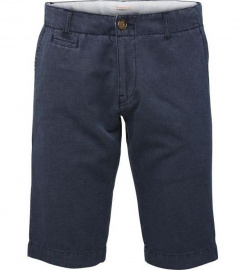 Chino Fit Shorts (Leinen) - dunkelblau