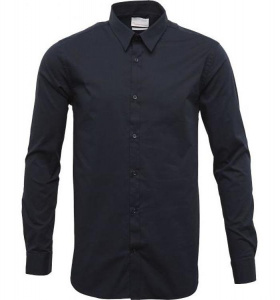 Business Shirt mit Stretch - navy